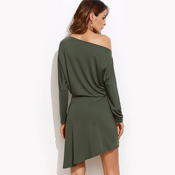 Asymmetric Overlap Dress