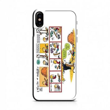 Calvin And Hobbes Comics Trip iPhone X Case