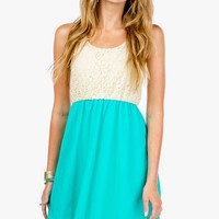 Laced Tank Hi Lo Dress