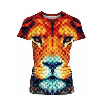 Brown Tiger All printed t-shirt for women