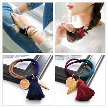 Fashion Pony Tail Hair Ornament with Tassel