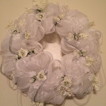 Bridal Shower Wreath, decoration, door hanger, Wedding Gift, Wedding Decor