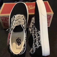 Vans White men and women fashion casual shoes