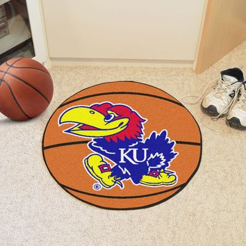 "Kansas Basketball Mat 27"" diameter"