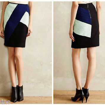 NWT Anthropologie Colorblocked Pencil Skirt Sz 10 - By Maeve