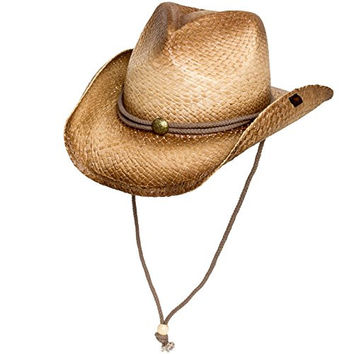 Peter Grimm Straw Round Up Cowboy Hat, Ombre