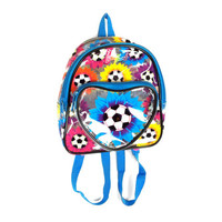 Lisa Frank Clear Soccer Ball Flowers Mini Backpack