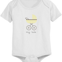 My Ride Cute Baby Bodysuit - Pre-Shrunk Cotton Snap-On Style Baby Onesuit