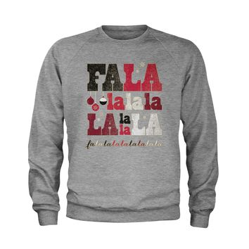Fa La La Holiday Shirt Youth-Sized Crewneck Sweatshirt