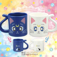 Anime Sailor Moon Crystal 20th Anniversary Cat Mug Cups Valentine's Gifts 1pairs