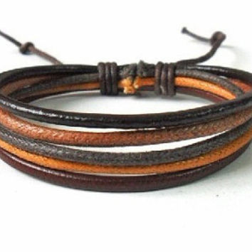 jewelry bangle leather bracelet ropes bracelet women bracelet girls bracelet men bracelet made of leather rope Cuff Bracelet wrist SH-0174