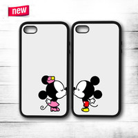 Mickey And Minnie Mouse Kiss  iPhone 4 4S 5 5S 5C 6 6 Plus , iPod 4 5 , Samsung Galaxy S3 S4 S5 Note 3 Note 4 , HTC One X M7 M8 Couple Case