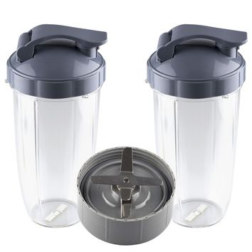 NutriBullet Extractor Blade + 2 Colossal Cups 32 oz with Flip Top To Go Lids Combo for NB-101s