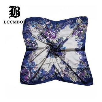 ESBU3C 2015 Big Size 90*90cm Silk Square Scarf Women Fashion Brand High Quality Cheap Imitated Silk Satin Scarves Polyester Shawl Hijab