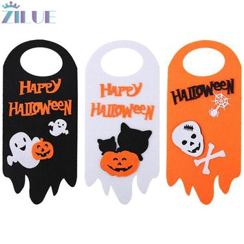 Zilue 1pcs/Lot Halloween Arrangement Props Pumpkin Ghost Cat Door Hanger Pendant Hotel Mall Ghost Festival Scene Decoration