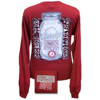 Alabama Crimson Tide Preserved Perfection Mason Jar Long Sleeves T Shirt