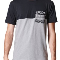 On The Byas Kenny Pieced Pocket Crew T-Shirt - Mens Tee - Black
