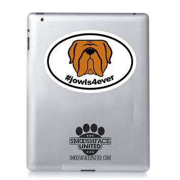 Mastiff decal, mastiff sticker - #jowls4ever or #slobberissexy = Dogue de Bordeaux, Bordeaux Mastiff, French Mastiff