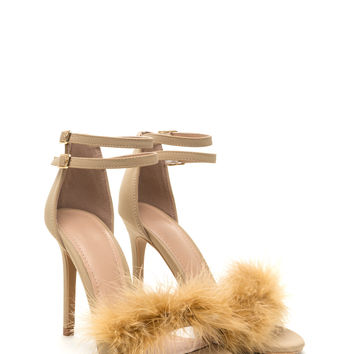 Fluffed Up Faux Leather Heels GoJane.com