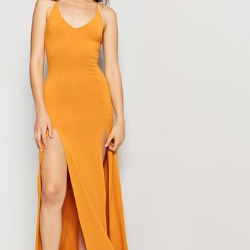 M-Slit Cami Maxi Dress