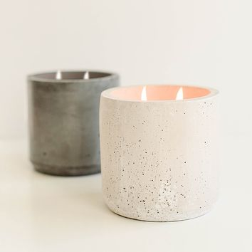 Warm and Cozy Double Wick Concrete Candle