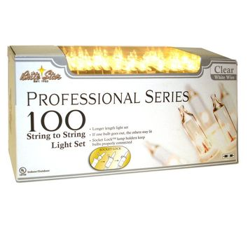 Professional Series 100-Light Clear Mini Light Set with White Wire (Set of 2)-37-731-20 - The Home Depot