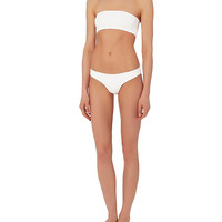 Onia Choker Bandeau Bikini: White/Black- FINAL SALE at INTERMIX | Shop Now | Shop IntermixOnline.com