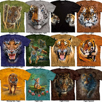 The Mountain Tiger T-Shirt S-3XL Big Animal Face Tee NEW