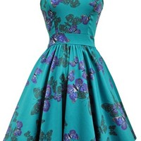 Lady Vintage Teal Tea Dress