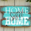 Rustic Home Quote Sign: Home Sweet Home in Reclaimed Wood Pallet