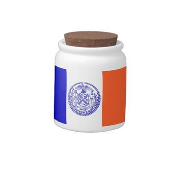 New York City Flag Candy Jar