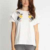 Bloom Fields Embroidered Top | Ruche