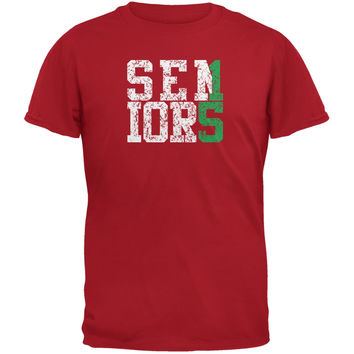 Graduation Seniors 2015 Green Red Adult T-Shirt