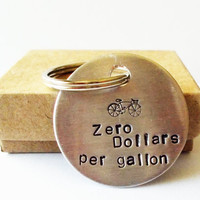 Earth Day Bicycle Keychain Bike Key Ring Recycle save the planet Birthday gift ideas for him her