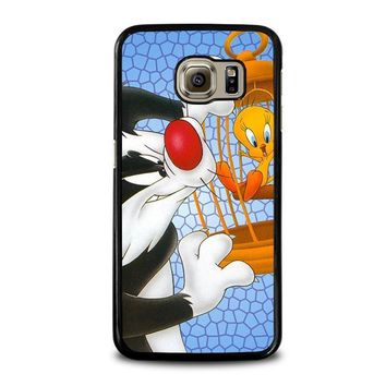 sylvester and tweety looney tunes samsung galaxy s6 case cover  number 2