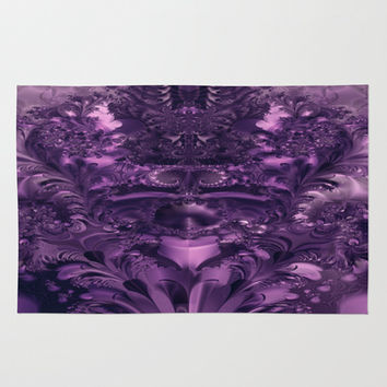 Purple Glory Area & Throw Rug by Leatherwood Design | Society6