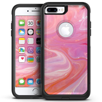 Marbleized Pink Paradise V2 - iPhone 7 or 7 Plus Commuter Case Skin Kit