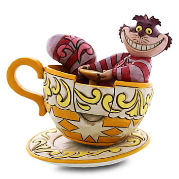 Disney Cheshire Cat in Tea Cup Figure by Jim Shore | Disney Store