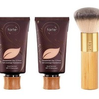 tarte Super-Size Amazonian Clay Foundation with Brush — QVC.com