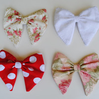 Pastel Hair Bows Hair Accessories Minnie Hair Bow Floral Hair Bow
