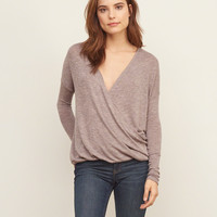 Knit Wrap Front Tee