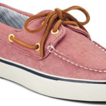 Sperry Top-Sider Bahama Canvas 2-Eye Boat Shoe RedSaltWashedCanvas, Size 7.5M  Women's Shoes