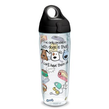 Tervis Project Paws Dog Problems black lid, 24 oz. water bottle