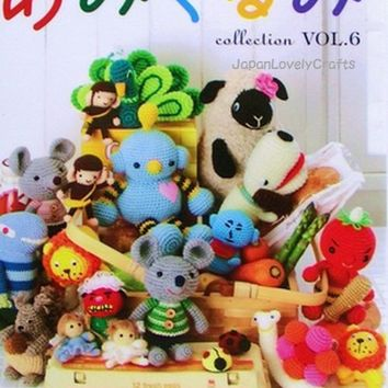 Amigurumi Collection Vol.6 - Japanese Crochet Pattern Book for Kawaii Amigurumi Zakka - B114