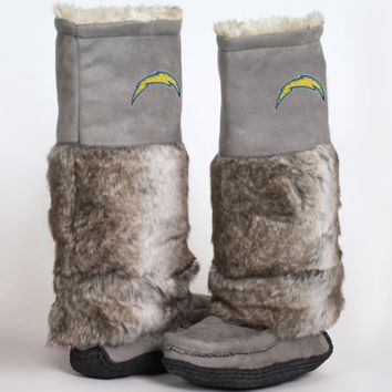 Cuce Shoes San Diego Chargers Ladies The Follower Boots - Gray - http://www.shareasale.com/m-pr.cfm?merchantID=7124&userID=1042934&productID=525371686 / San Diego Chargers