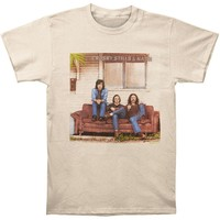 Crosby Stills Nash Young Men's  1969 Album T-shirt Natural
