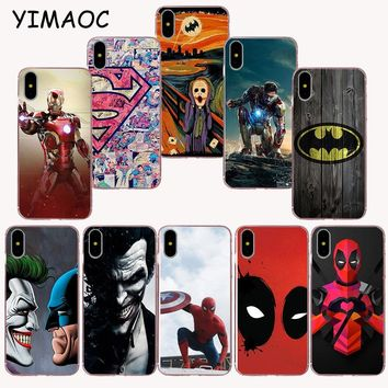 Deadpool Dead pool Taco YIMAOC 146z  and  batman hero Soft TPU Silicone Case for iPhone X r s Xr Xs Max 8 7 6S 6 Plus 5 5s SE AT_70_6