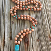 Bohemian Necklace, Hippie Necklace, Native American, Turquoise Necklace, Hipster Jewelry, Boho Necklace, Wood Jewelry, Casual Necklace