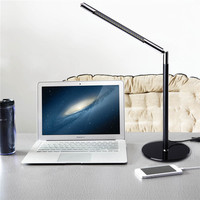 New Adjustable Eye-caring 24 LEDs Desk Table Lamp Toughened Glass Base for Home Office Reading Studying  White high quality
