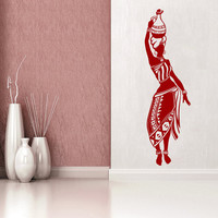 Africa Wall Decal Tribal African Woman Boho Vinyl Stickers Beauty Salon Decor Fashion Art Mural Interior Design Bohemian Bedding Decor KI121